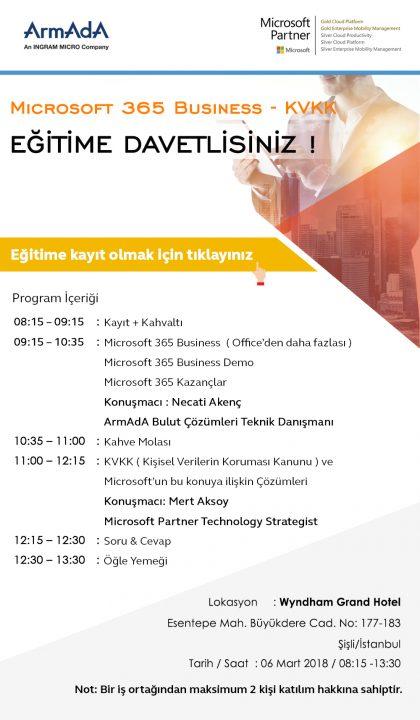 Microsoft Türkiye & Armada Olarak MS365 & KVKK eğitim tarihimiz