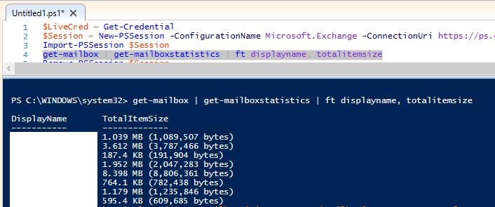 Exchange Online Mailbox Kullanım Oranını Görüntüleme