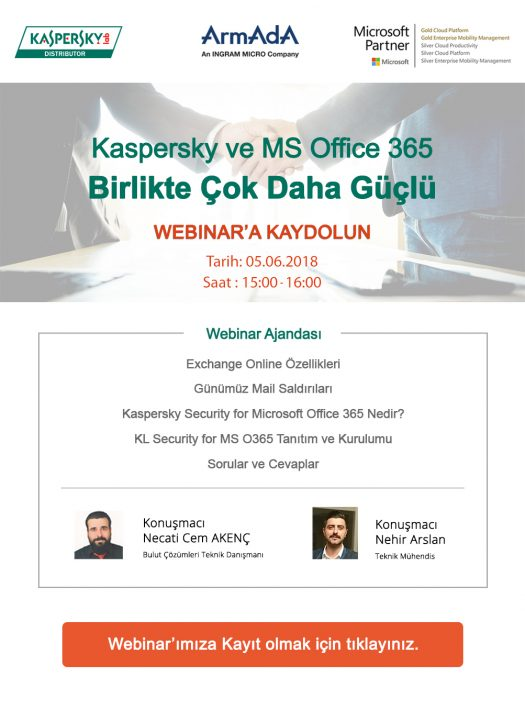 Office 365 & Kaspersky Security for Office 365 Webinarımıza Davetlisiniz!!!